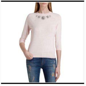Ted baker feera embellished pink sweater 2 nwot
